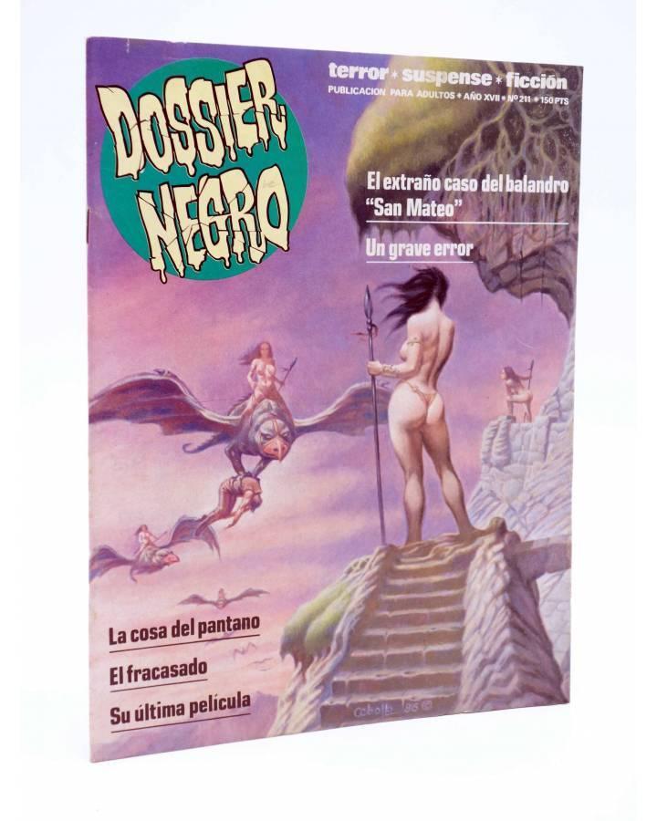 Cubierta de DOSSIER NEGRO 211. LA COSA DEL PANTANO. ALAN MOORE (Vvaa) Zinco 1987