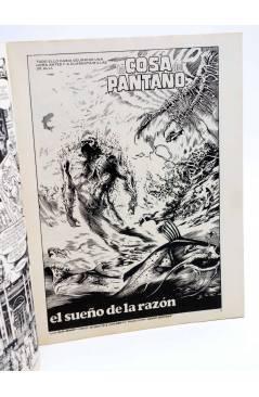 Contracubierta de DOSSIER NEGRO 211. LA COSA DEL PANTANO. ALAN MOORE (Vvaa) Zinco 1987
