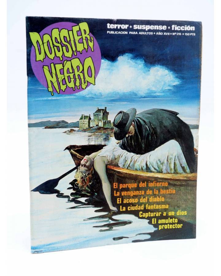 Cubierta de DOSSIER NEGRO 215. EL PARQUE DEL INFIERNO (Vvaa) Zinco 1988