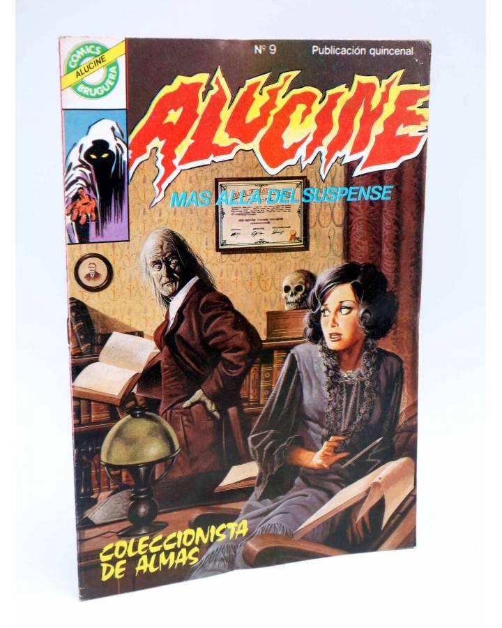 Cubierta de ALUCINE. MÁS ALLÁ DEL SUSPENSE 9. COLECCIONISTA DE ALMAS (Vvaa) Bruguera 1984