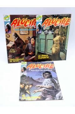 Cubierta de ALUCINE. MÁS ALLÁ DEL SUSPENSE 9 10 11. LOTE DE 3 (Vvaa) Bruguera 1984