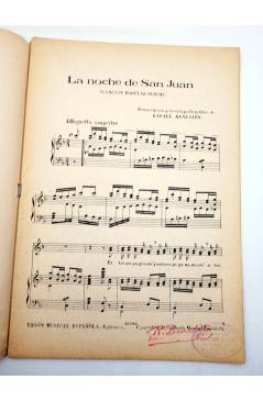 Muestra 1 de NATURA. CANTOS INFANTILES CUADERNO 4º (R. Benedito) Unión Musical Española 1943. PARTITURAS