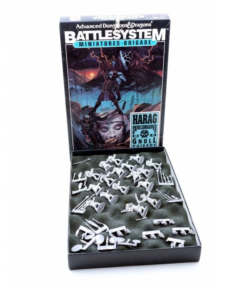 Cubierta de CAJA BOX ADVANCED DUNGEONS AND DRAGONS BATTLE SYSTEM. HARAG SKULLSMASHER. Ral Partha 1991
