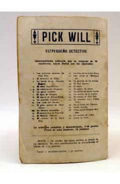 Contracubierta de BIRD EL PEQUEÑO SALTIMBANQUI 15. El Rosario de Plata (Eleme) Librería Granada Circa 1920