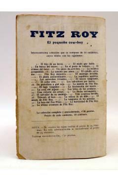 Contracubierta de BIRD EL PEQUEÑO SALTIMBANQUI 38. Garobing Triunfante (Eleme) Librería Granada Circa 1920