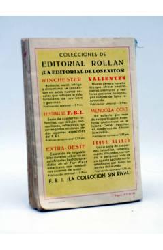 Contracubierta de COLECCIÓN FBI F.B.I. 352. PISTOLERO DE HIELO (Jan Hutton) Rollán 1957