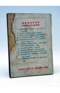Contracubierta de EL FOLLETÍN 1ª ÉPOCA AÑO I Nº 12. EL ÚLTIMO MOHICANO (J. Fenimoore Cooper) Prensa Popular 1923