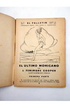 Muestra 2 de EL FOLLETÍN 1ª ÉPOCA AÑO I Nº 12. EL ÚLTIMO MOHICANO (J. Fenimoore Cooper) Prensa Popular 1923
