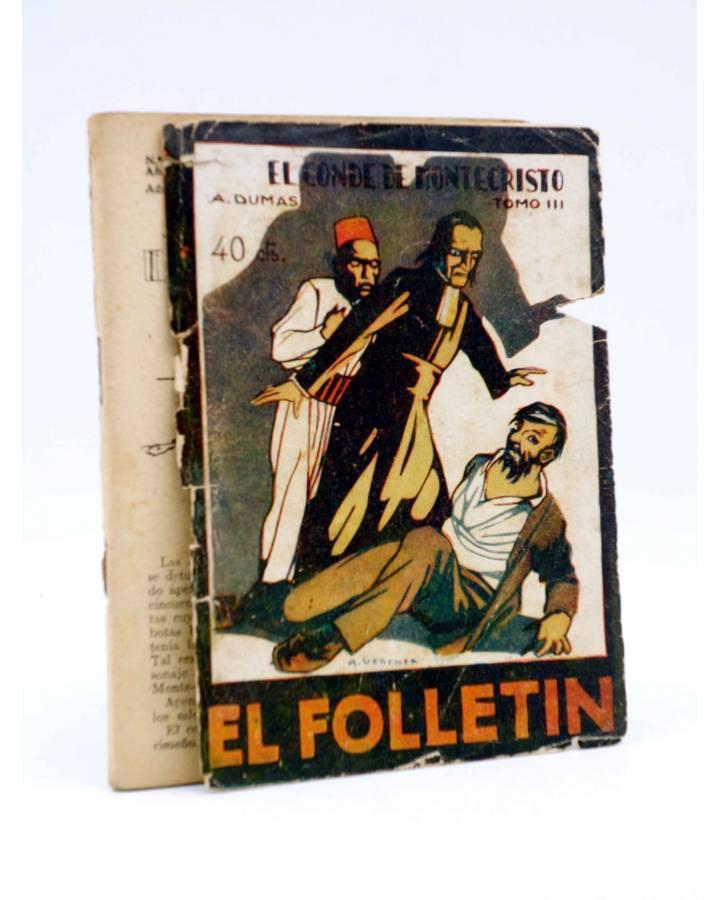 Cubierta de EL FOLLETÍN 1ª ÉPOCA AÑO I Nº 42. EL CONDE DE MONTECRISTO TOMO III (A. Dumas) Prensa Popular 1924