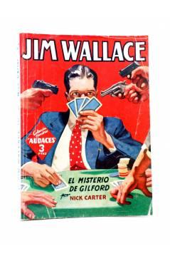 Cubierta de HOMBRES AUDACES 166. JIM WALLACE 10: EL MISTERIO DE GILFORD (Nick Carter) Molino 1948