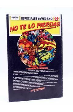 Contracubierta de CAPA Y PUÑAL 6. VACACIONES (Mantlo / Mignola) Forum 1989