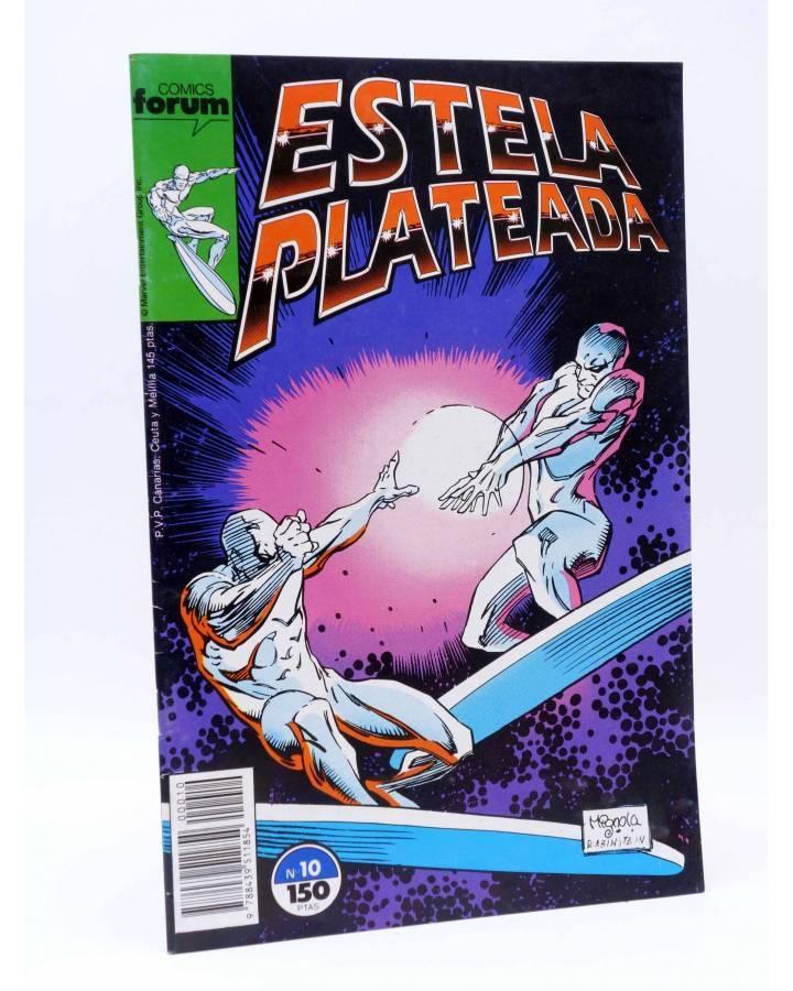 Cubierta de ESTELA PLATEADA / SILVER SURFER 10. MÁSCARAS (Englehart / Staton) Forum 1989