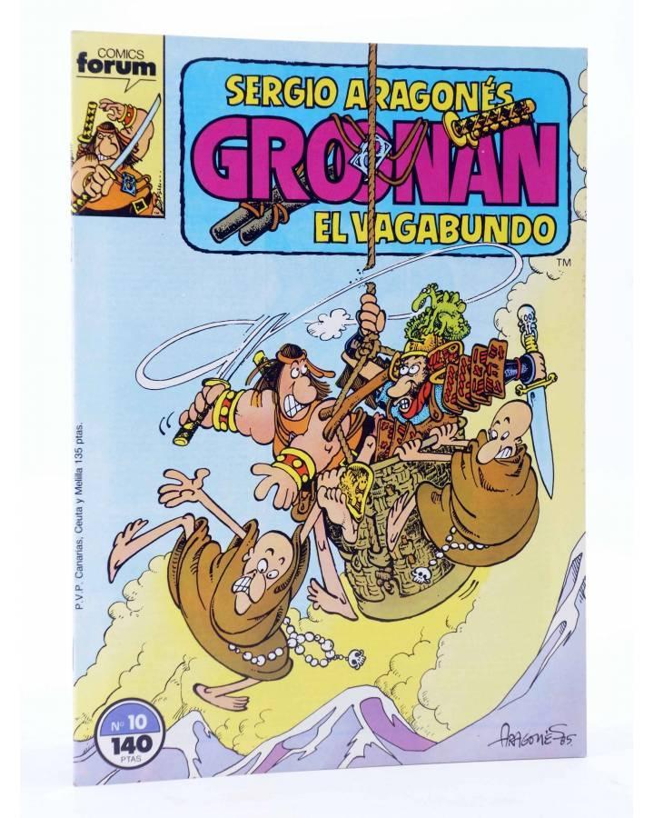 Cubierta de GROONAN EL VAGABUNDO 10. MONJES (Sergio Aragonés) Forum 1988