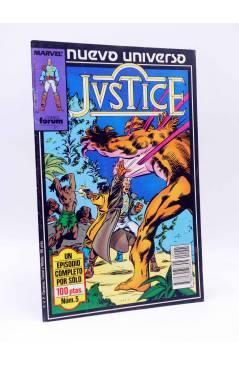 Cubierta de JUSTICE 5. PAPÁ (Englehart / Salmons / Morgan) Forum 1988. NUEVO UNIVERSO MARVEL