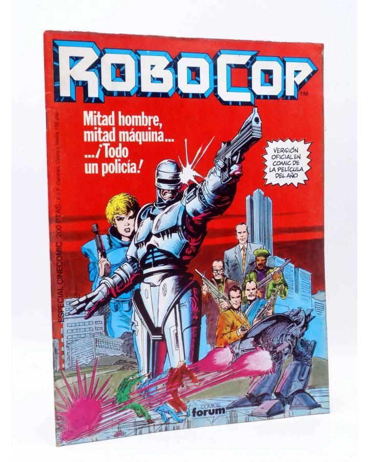 Cubierta de ROBOCOP. VERSIÓN OFICIAL EN COMIC. ESPECIAL CINECOMIC (Harras / Saltares) Forum 1987
