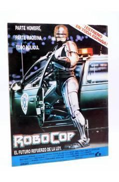 Contracubierta de ROBOCOP. VERSIÓN OFICIAL EN COMIC. ESPECIAL CINECOMIC (Harras / Saltares) Forum 1987