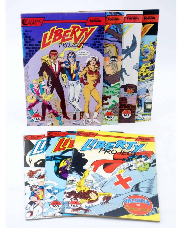 Cubierta de LIBERTY PROJECT 1 A 7. COLECCIÓN COMPLETA (Kurt Busiek / James W. Fry) Forum 1990