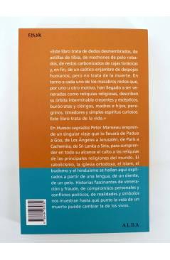 Contracubierta de FREAKS. HUESOS SAGRADOS. RELIQUIAS DE LAS RELIGIONES DEL MUNDO (Peter Manseau) Alba 2010