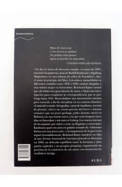 Contracubierta de TRAYECTOS. HIJOS DE REYES. UNA VERDADERA HISTORIA DE AMOR (Reinhard Kaiser) Alba 2007