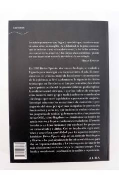 Contracubierta de TRAYECTOS. EL REMEDIO INVISIBLE. ÁFRICA OCCIDENTE Y LA LUCHA CONTRA EL SIDA (Helen Epstein) Alba 2007