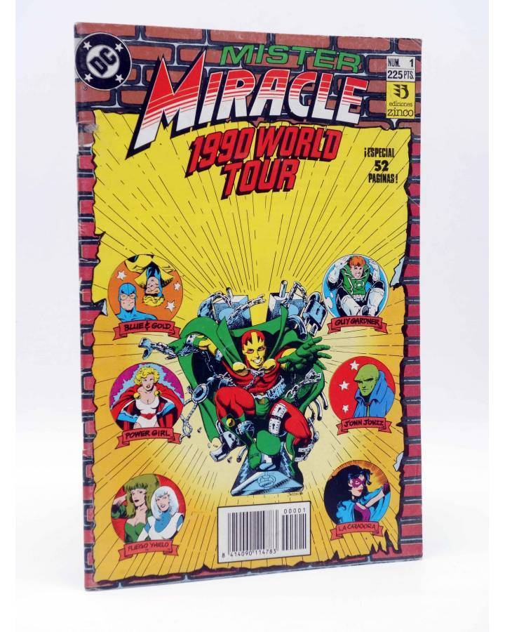 Cubierta de MISTER MIRACLE 1. 1990 WORLD TOUR (Keith Giffen / Len Wein) Zinco 1990