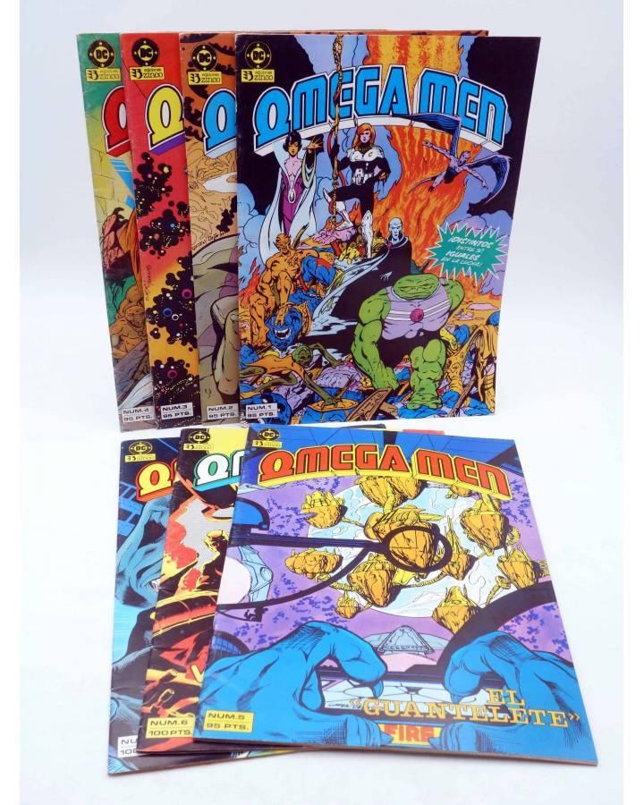 Cubierta de OMEGA MEN. LOTE Nºs 1 A 7 (Slifer / Giffen / Kirby) Zinco 1984. + NEW GODS