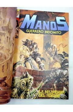 Contracubierta de MANOS GUERRERO INDÓMITO SELECCIÓN 2. RETAPADO 13-18 (Correa) Bruguera 1984. COMICS BRUGUERA