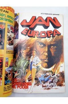 Muestra 3 de JAN EUROPA SELECCIÓN 1. RETAPADO NºS 1 2 3 4 5 (Edmond) Bruguera 1984. COMICS BRUGUERA