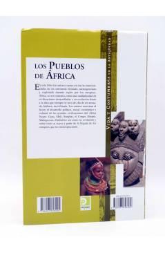 Contracubierta de VIDA Y COSTUMBRES EN LA ANTIGÜEDAD. LOS PUEBLOS DE ÁFRICA (Augusto E. Benítez Fleites / Julia F. Moren