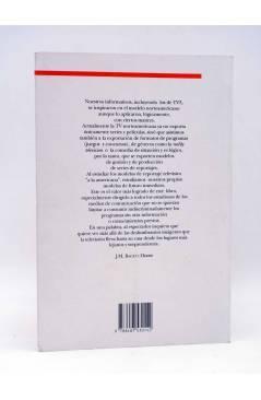 Contracubierta de REPORTAJE EN TV: EL MODELO AMERICANO (Joan Úbeda) Íxia 1993