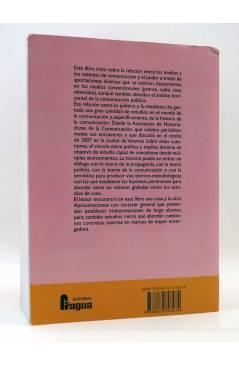 Contracubierta de POLÍTICA Y COMUNICACIÓN EN LA HISTORIA CONTEMPORÁNEA (Bordería Ortiz / Martínez Gallego / Rius Sanchís