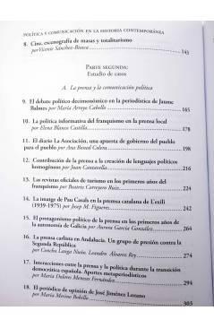 Muestra 2 de POLÍTICA Y COMUNICACIÓN EN LA HISTORIA CONTEMPORÁNEA (Bordería Ortiz / Martínez Gallego / Rius Sanchís) Fra