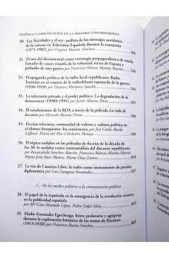 Muestra 4 de POLÍTICA Y COMUNICACIÓN EN LA HISTORIA CONTEMPORÁNEA (Bordería Ortiz / Martínez Gallego / Rius Sanchís) Fra