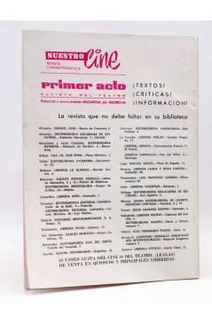 Contracubierta de PRIMER ACTO. REVISTA DE TEATRO 117. EL SUEÑO DE LA RAZÓN DE BUERO VALLEJO (Vvaa) Primer Acto 1970