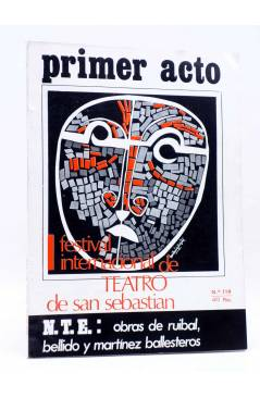 Cubierta de PRIMER ACTO. REVISTA DE TEATRO 119. FEST INT DE TEATRO DE SAN SEBASTIÁN (Vvaa) Primer Acto 1970