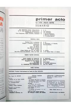 Muestra 1 de PRIMER ACTO. REVISTA DE TEATRO 119. FEST INT DE TEATRO DE SAN SEBASTIÁN (Vvaa) Primer Acto 1970