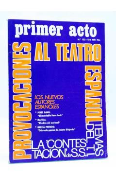 Cubierta de PRIMER ACTO. REVISTA DE TEATRO 123-124. PROVOCACIONES AL TEATRO ESPAÑOL (Vvaa) Primer Acto 1970