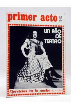 Cubierta de PRIMER ACTO. REVISTA DE TEATRO 134. UN AÑO DE TEATRO (Vvaa) Primer Acto 1971