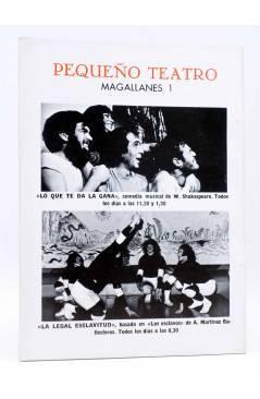 Contracubierta de PRIMER ACTO. REVISTA DE TEATRO 134. UN AÑO DE TEATRO (Vvaa) Primer Acto 1971