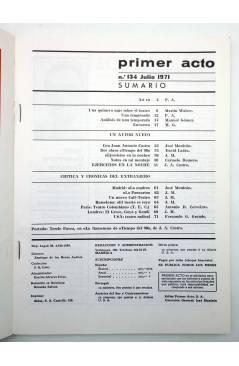 Muestra 1 de PRIMER ACTO. REVISTA DE TEATRO 134. UN AÑO DE TEATRO (Vvaa) Primer Acto 1971