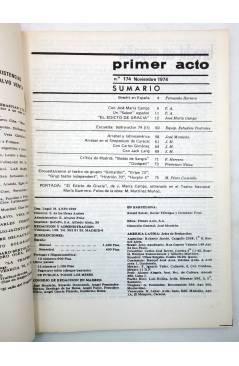 Muestra 1 de PRIMER ACTO. REVISTA DE TEATRO 174. EL EDICTO DE GRACIA DE JOSÉ MARÍA CAMPS (Vvaa) Primer Acto 1974