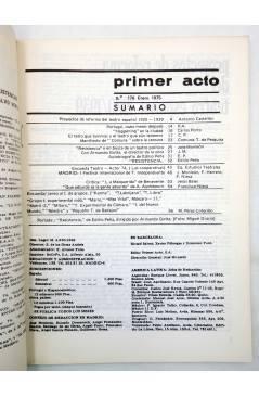Muestra 1 de PRIMER ACTO. REVISTA DE TEATRO 176. TEATRO Y POLÍTICA (Vvaa) Primer Acto 1975