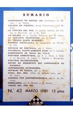 Muestra 1 de REVISTA EL AJEDREZ ESPAÑOL 43. MARZO 1959 (Vvaa) FEDA 1959