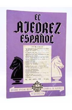 Cubierta de REVISTA EL AJEDREZ ESPAÑOL 44. ABRIL 1959 (Vvaa) FEDA 1959