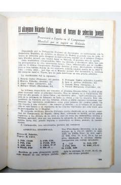 Muestra 3 de REVISTA EL AJEDREZ ESPAÑOL 63 / 8 - 1961. AGOSTO. AJEDREZ EN VERANO (Vvaa) FEDA 1961