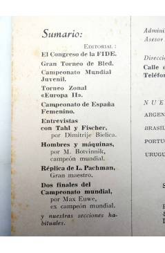 Muestra 1 de REVISTA EL AJEDREZ ESPAÑOL 66 / 11 - 1961. SRTA FERRER CAMPEONATO MUNDIAL FEMENINO (Vvaa) FEDA 1961