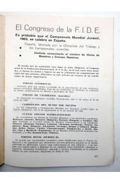 Muestra 2 de REVISTA EL AJEDREZ ESPAÑOL 66 / 11 - 1961. SRTA FERRER CAMPEONATO MUNDIAL FEMENINO (Vvaa) FEDA 1961