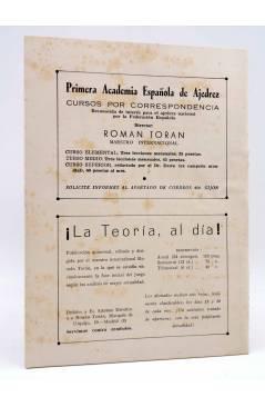Contracubierta de REVISTA EL AJEDREZ ESPAÑOL 77 / 10 - 1962. OCTUBRE. XV OLIMPIADA EN VARNA (Vvaa) FEDA 1962