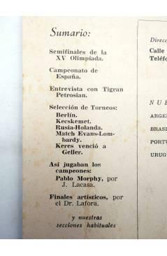 Muestra 1 de REVISTA EL AJEDREZ ESPAÑOL 77 / 10 - 1962. OCTUBRE. XV OLIMPIADA EN VARNA (Vvaa) FEDA 1962
