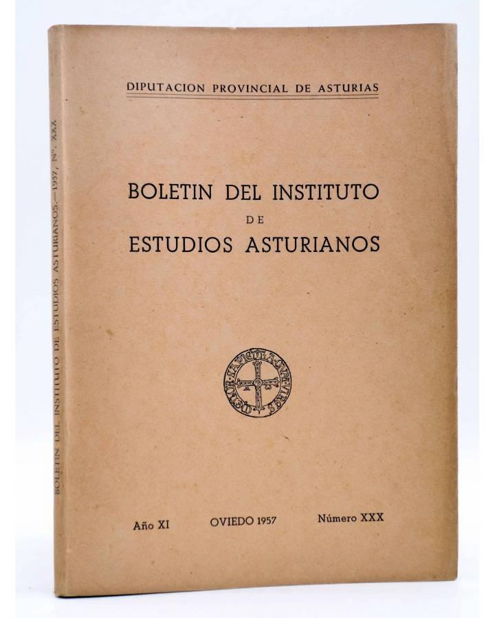 Cubierta de BOLETÍN DEL INSTITUTO DE ESTUDIOS ASTURIANOS AÑO X NÚM XXX (Vvaa) Diputación de Asturias 1957